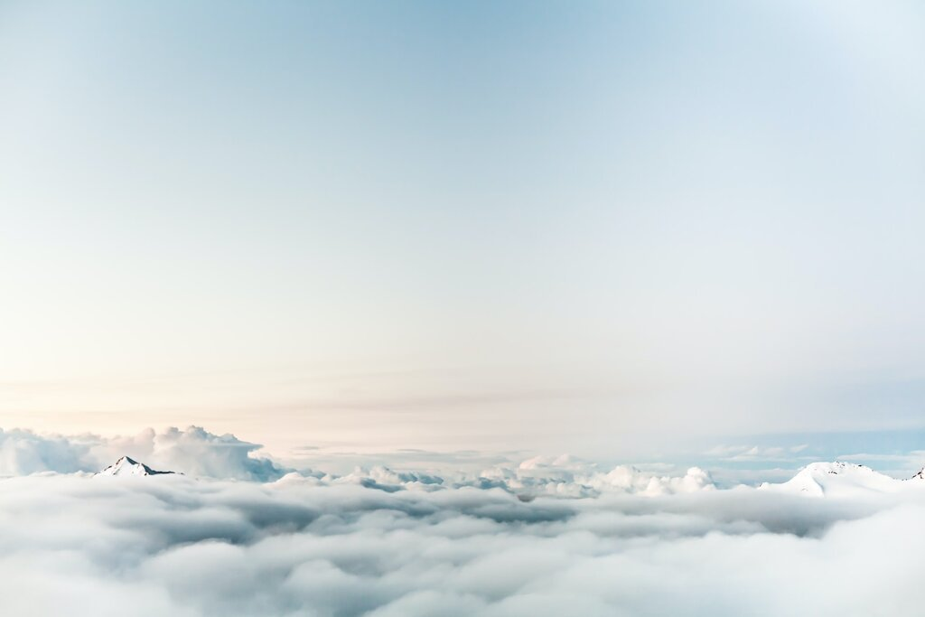 White Clouds, Sky, Quiet, Peaceful.